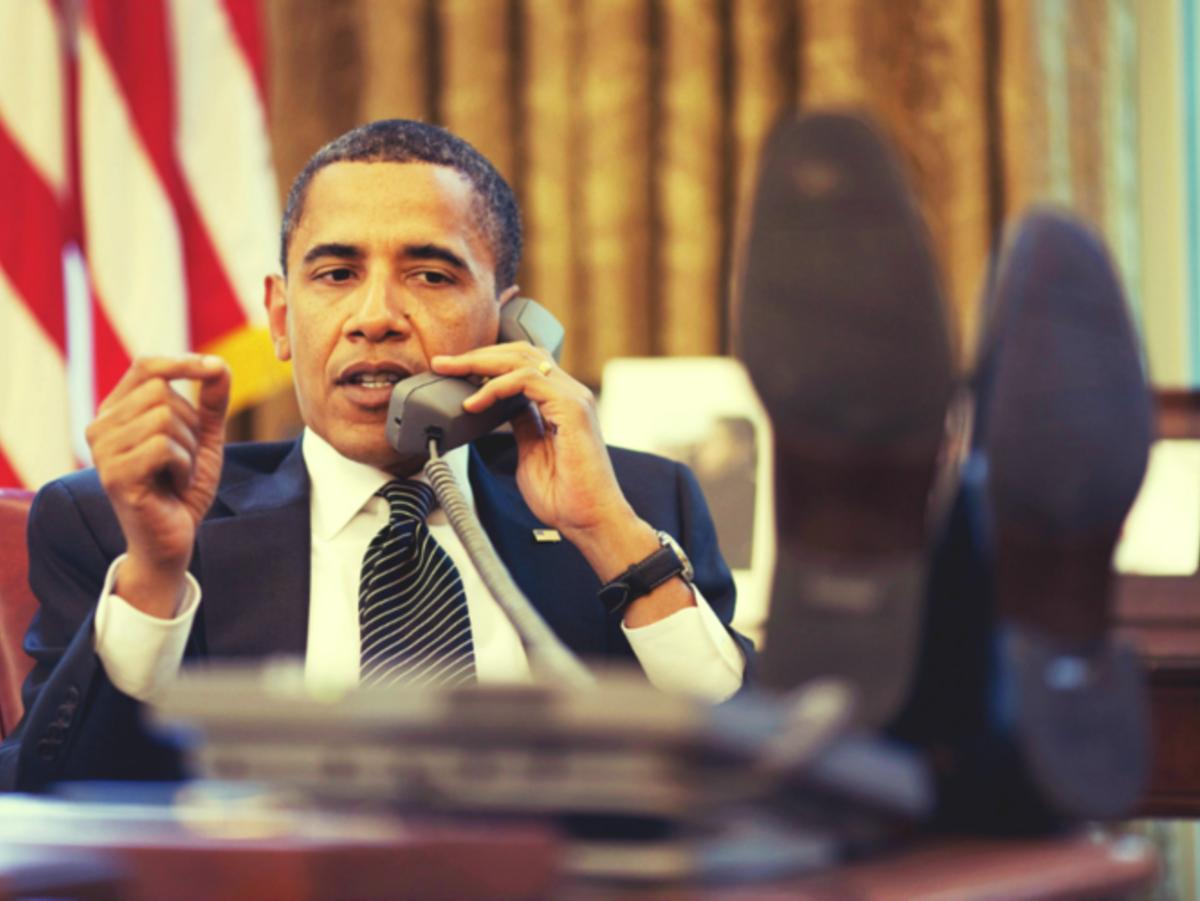 Ein schwarzer im Weißen Haus